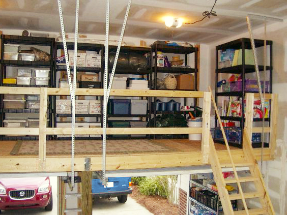 Garage loft here are the basic requirements for your for Diy garage storage loft